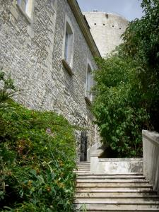 Issoudun - Stairs leading to the White tower (Tour Blanche)