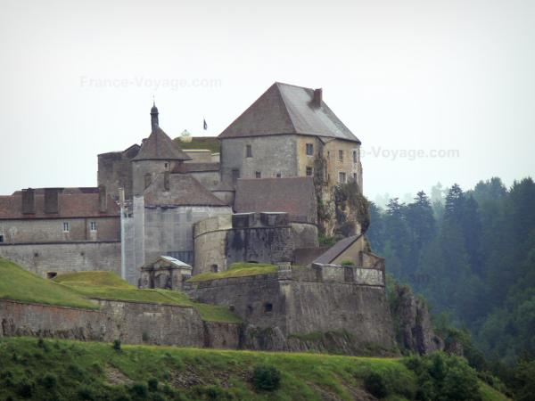 Joux castle - Fortress (fort) home to the Old Weapons museum, in Cluse-et-Mijoux