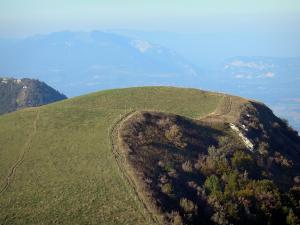 Landscapes of the Ain - View from the top of Grand Colombier (Jura mountain range, in Bugey)
