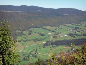 Landscapes of the Ain - Upper Jura Regional Nature Park (Jura mountain range): view from the neck of the Sickle