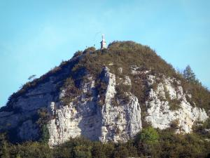 Landscapes of the Ain - Virgin of Mount Carmier; in the town of Cerdon