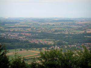 Landscapes of Alsace - From the Haut-Barr castle, view of the Alsace plain