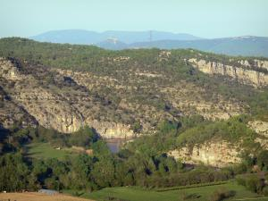Landscapes of the Ardèche - View of the Chassezac gorges