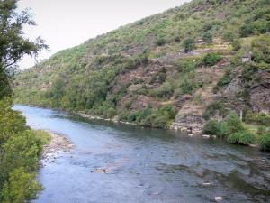 Landscapes of Aveyron - View of River Tarn