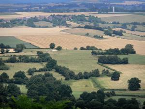 Landscapes of Burgundy - View of Nivernais from the top of the Montenoison Butte