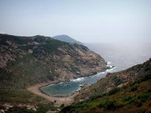 Landscapes of the Corsica coast - Small beach (creek) and sea