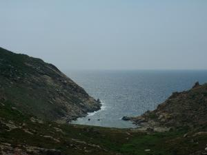 Landscapes of the Corsica coast - Wild coast (côte sauvage) and sea