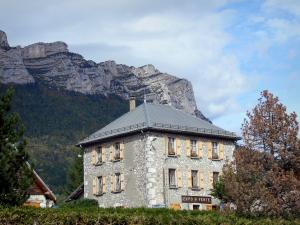 Landscapes of Dauphiné - House at the foot of the Chartreuse mountain range