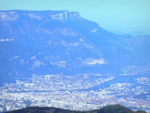 Landscapes of Dauphiné - View of the town of Grenoble and the surrounding mountains
