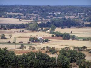 Landscapes of the Gard - Fields, trees and houses