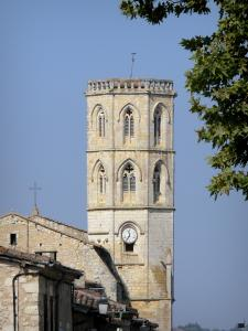 Landscapes of the Gascony - Octagonal tower of the Saint-Clément church in Monfort