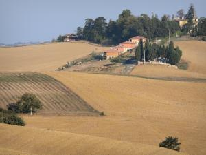 Landscapes of the Gascony - Village surrounded by fields