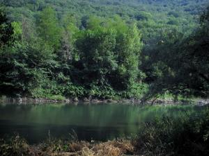 Landscapes of the Haute-Garonne - The Garonne river and trees