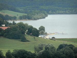 Landscapes of the Haute-Marne - View of the Liez Lake and its surroundings