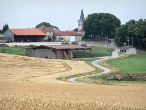 Landscapes of the Haute-Marne - Farm at the edge of fields