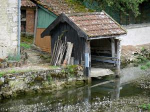 Landscapes of the Haute-Marne - Blaise valley: small wash house along River Blaise, in Cirey-sur-Blaise