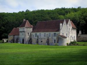 Landscapes of the Indre-et-Loire - Corroirie du Liget (fortified house) in Chemillé-sur-Indrois, in the Indrois valley