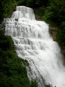 Landscapes of Jura - Site of the Hérisson waterfalls: Éventail waterfall