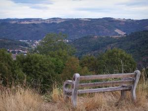 Landscapes of Loire - Bench with view of trees and wooded hills