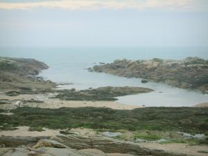 Landscapes of the Loire-Atlantique coast - Cliffs, sand and the sea (Atlantic Ocean)