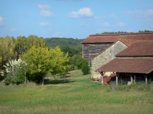 Landscapes of the Lot-et-Garonne - Farm, meadow and trees