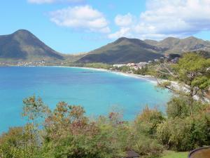 Landscapes of Martinique - View of the Diamond Bay with Mornes Larcher and Tinkerbell