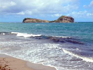 Landscapes of Martinique - View the islet of Santa Maria and the Atlantic Ocean