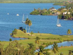 Landscapes of Martinique - Golf Three Islets at the seaside