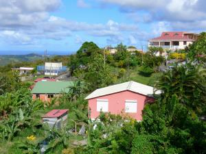 Landscapes of Martinique - Regional Park of Martinique: houses in a green
