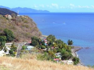 Landscapes of Martinique - Point of view of the cove Marigot Martinique panorama of coast and the Caribbean Sea