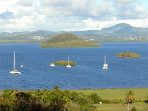 Landscapes of Martinique - Golf course views and the Bay of Three Islets