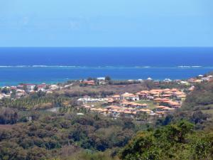 Landscapes of Martinique - Overlooking the town of Vauclin at the edge of the Atlantic Ocean