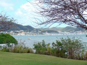 Landscapes of Martinique - View Marin with its bay and its marina