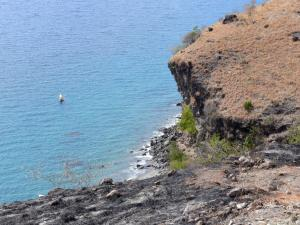 Landscapes of Martinique - Cliff at the edge of the Caribbean Sea