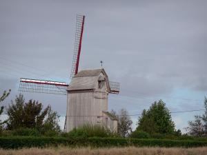 Landscapes of the Nord - Drievenmeulen, wooden windmill on pivot, in Steenvoorde
