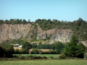 Landscapes of Normandy - Rock faces, trees and meadows