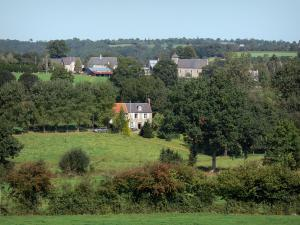 Landscapes of Normandy - Meadows, houses and trees