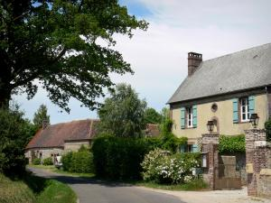 Landscapes of the Orne - Facades of houses in a village