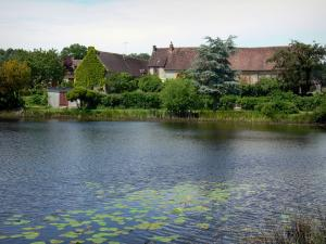 Landscapes of the Orne - Houses by a lake