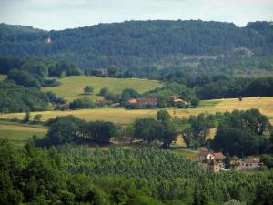 Landscapes of Périgord - Trees, houses, fields and forest