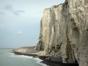 Landscapes of Picardy - Chalk cliff and the Channel (sea) in Ault