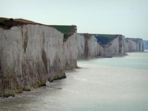 Landscapes of Picardy - Chalk cliff and the Channel (sea)