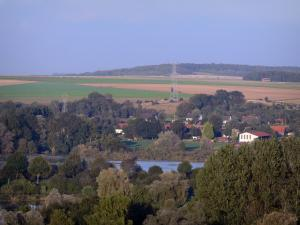 Landscapes of Picardy - Houses, lakes, trees and fields