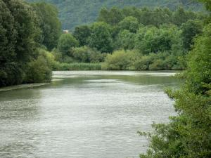 Landscapes of Picardy - Marne valley: Marne river lined with trees