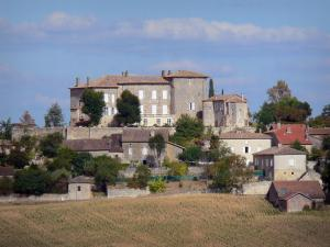 Landscapes of the Tarn-et-Garonne - Marsac castle overlooking the village of Marsac