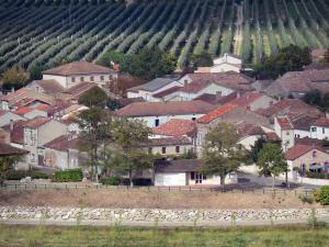 Landscapes of the Tarn-et-Garonne - Garonne valley: houses in the village of Espalais