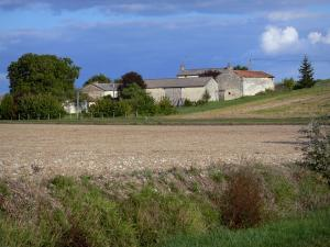 Landscapes of the Vienne - Fields, trees and farm