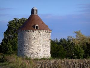 Landscapes of the Vienne - Dovecote, field and trees