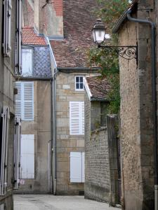 Langres - Facades of houses in the old town