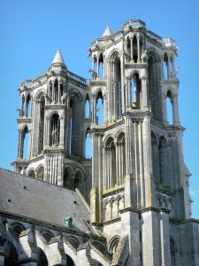Laon - Western towers of the Notre-Dame cathedral